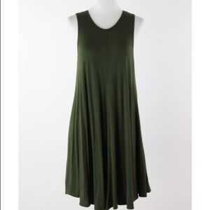 Urban Outfitters olive green mini dress.